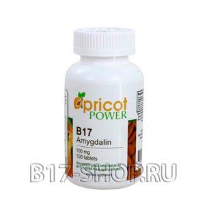 Витамин B17, Apricot Power, 100 мг, 100 таблеток (США)