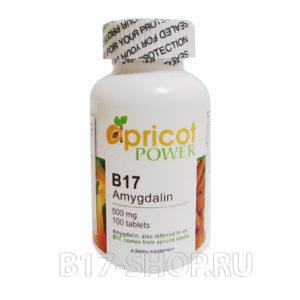 Витамин Apricot Power B17 500 мг, 100 табл. (США)