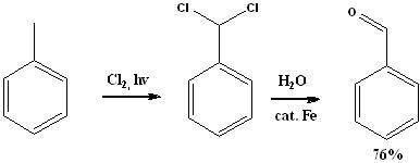 Формула синтеза бензальдегида