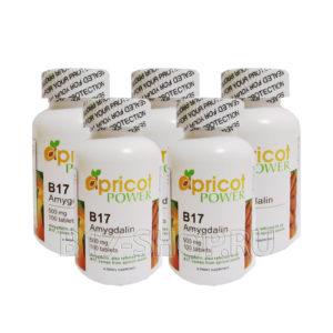 5 упаковок витамина Apricot Power B17 500 мг, 100 табл. (США)