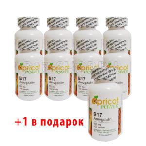 8 упаковок (+1 в подарок) витамина Apricot Power B17 500 мг, 100 табл. (США)