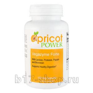 Ферменты (энзимы) Vegazyme forte, Apricot Power 120, капсул