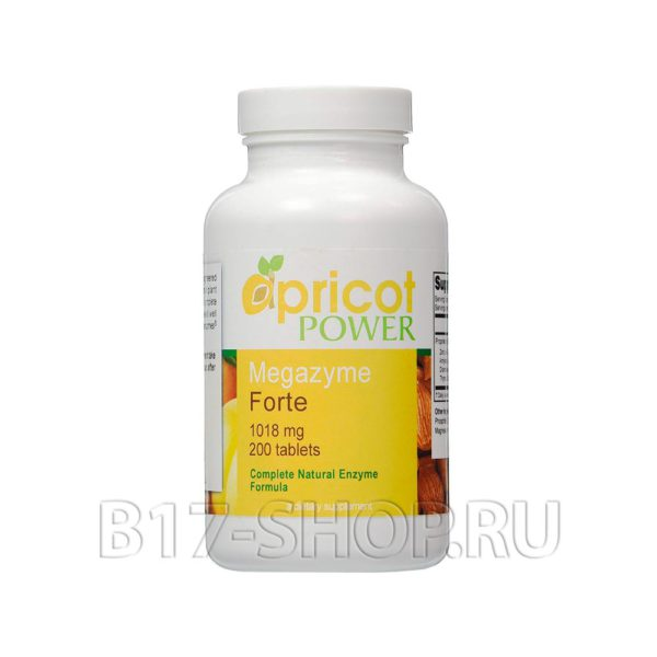 Ферменты (энзимы) Megazyme forte Apricot Power, 200 таблеток